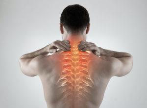 Sportsman with backache